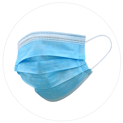 surgical masks and shields